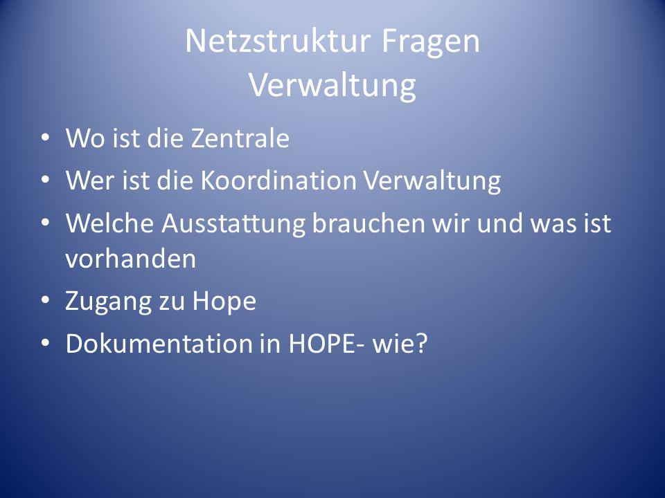 Netzstruktur Fragen Verwaltung