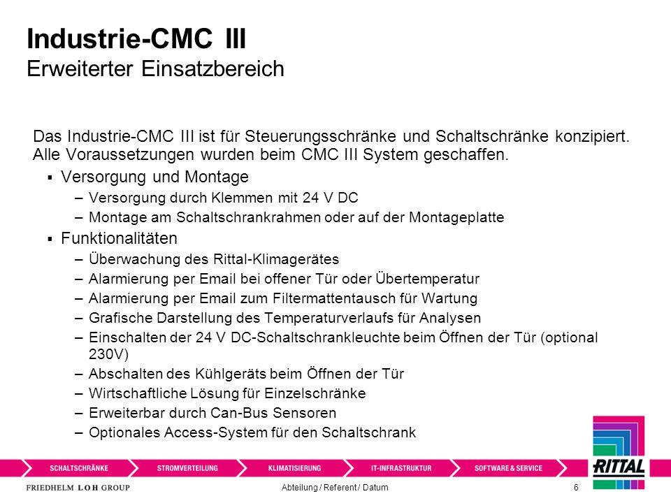 Industrie-CMC III Erweiterter Einsatzbereich