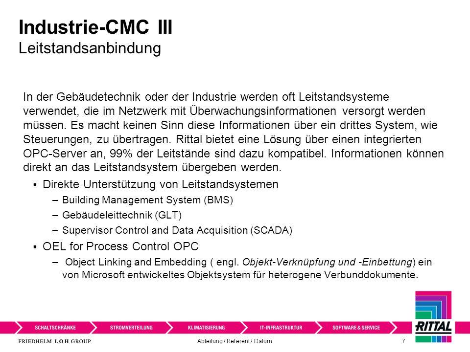 Industrie-CMC III Leitstandsanbindung
