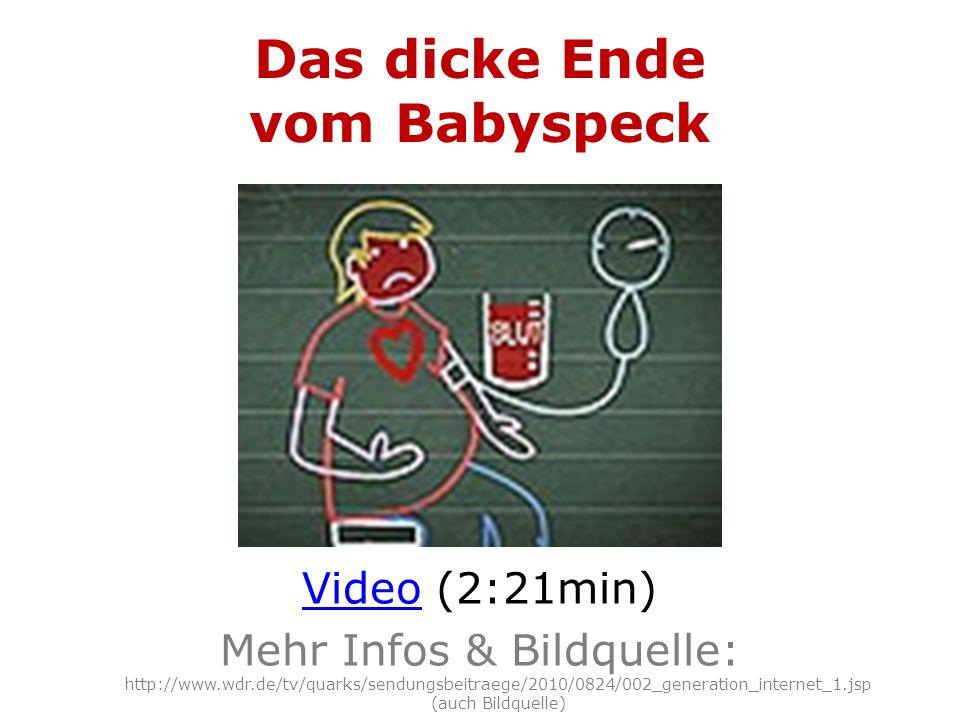 Das dicke Ende vom Babyspeck