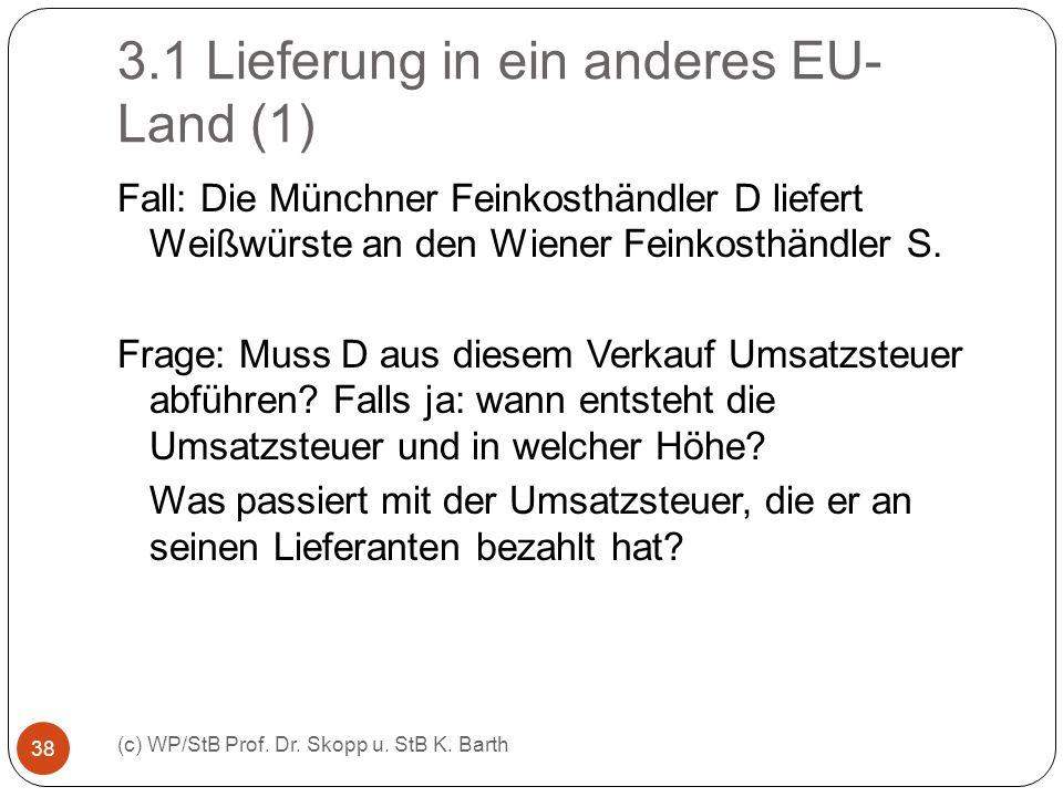 3.1 Lieferung in ein anderes EU-Land (1)