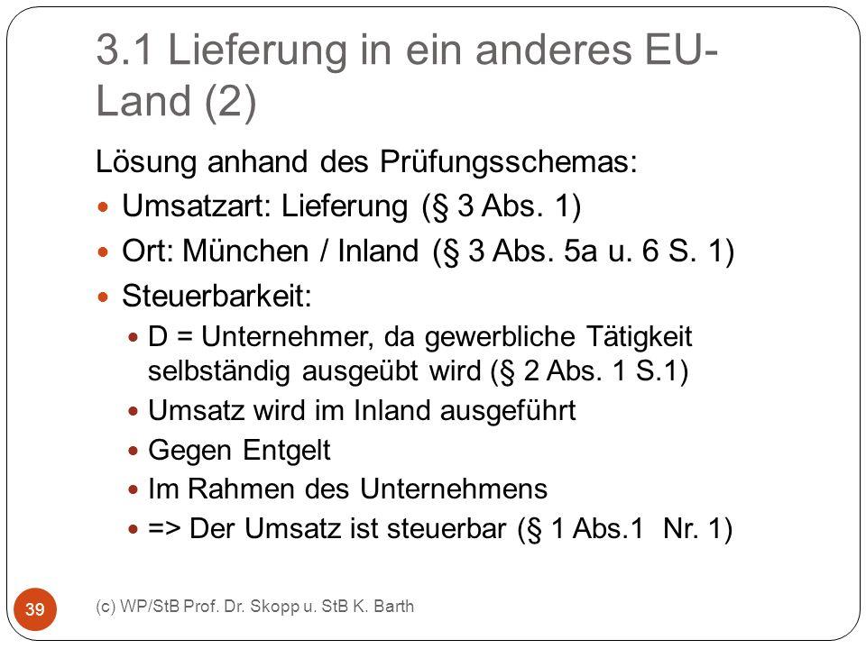 3.1 Lieferung in ein anderes EU-Land (2)