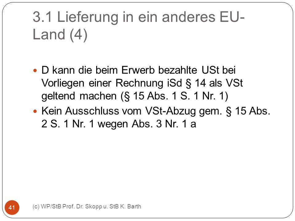 3.1 Lieferung in ein anderes EU-Land (4)