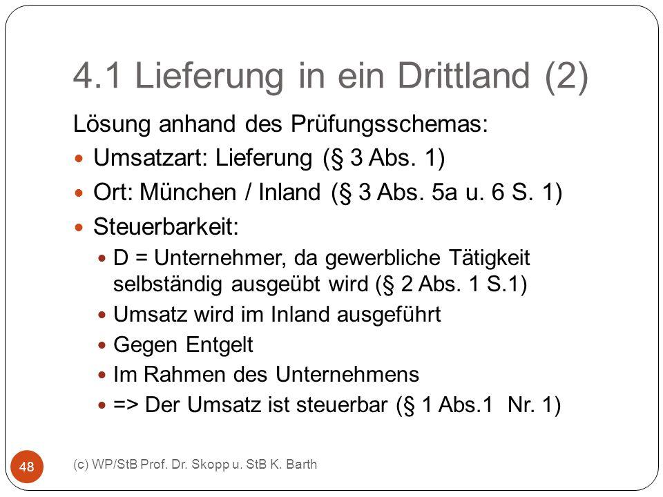 4.1 Lieferung in ein Drittland (2)