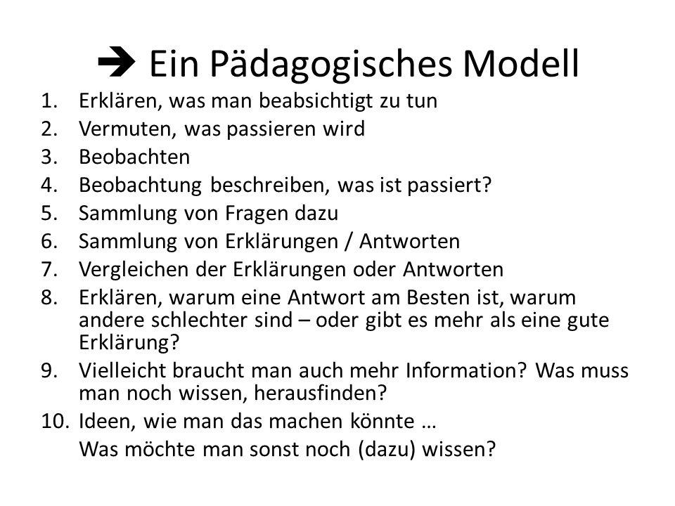  Ein Pädagogisches Modell