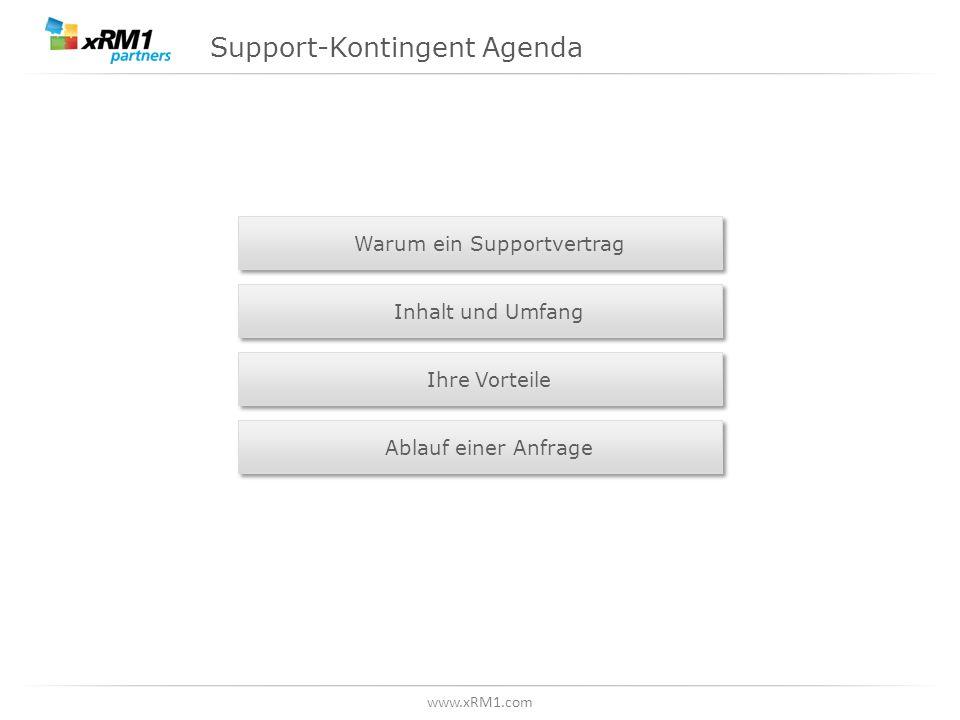 Support-Kontingent Agenda