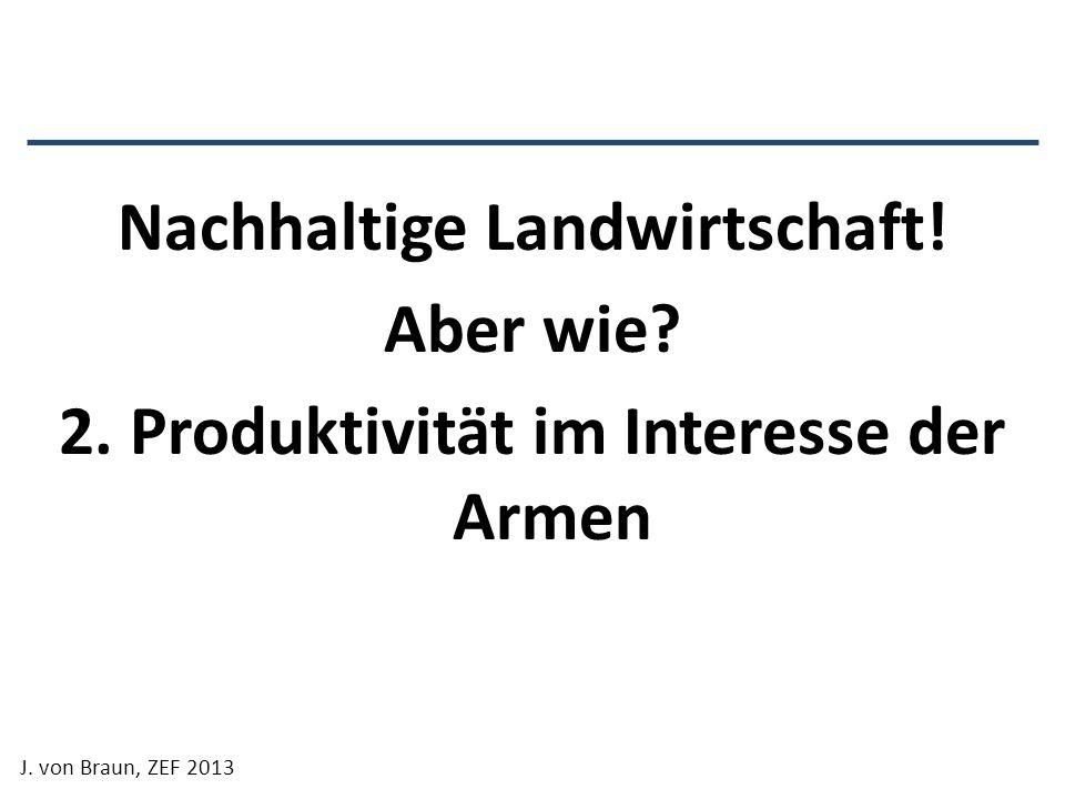 Nachhaltige Landwirtschaft. Aber wie. 2