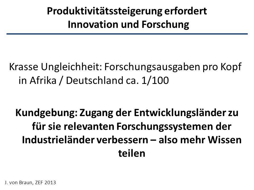 Produktivitätssteigerung erfordert Innovation und Forschung