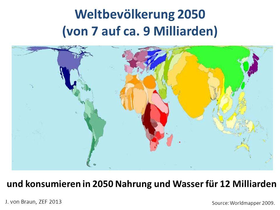 Weltbevölkerung 2050 (von 7 auf ca. 9 Milliarden)