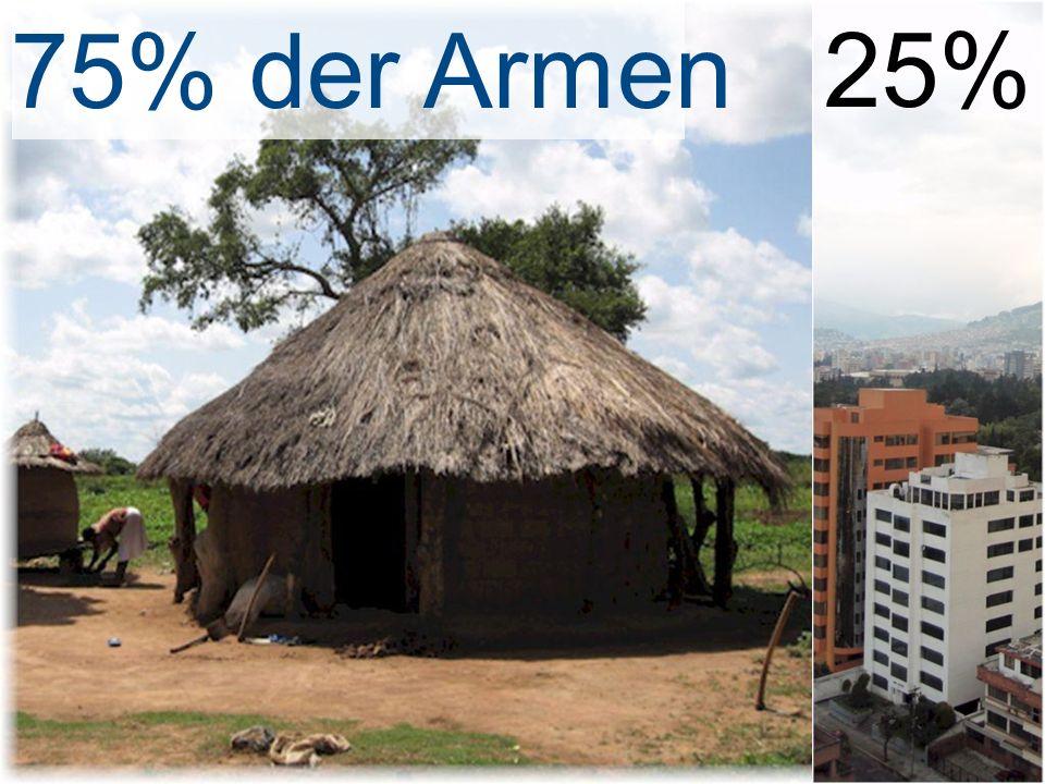 75% der Armen25%