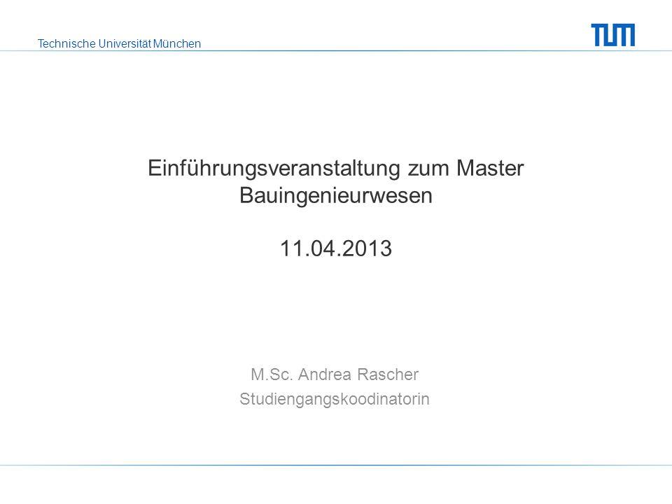 Einführungsveranstaltung zum Master Bauingenieurwesen 11.04.2013