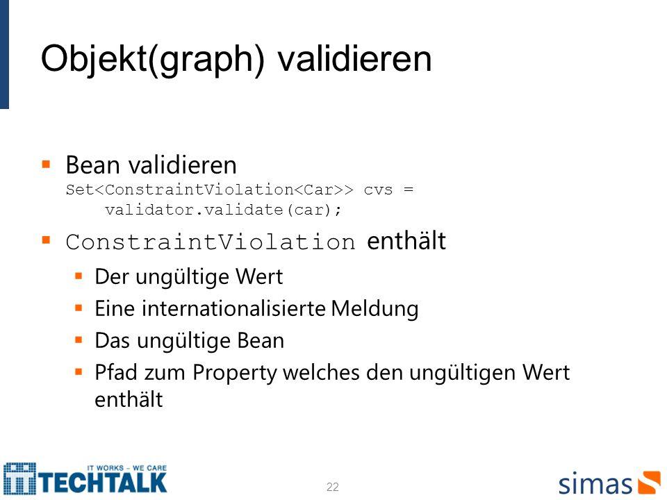 Objekt(graph) validieren