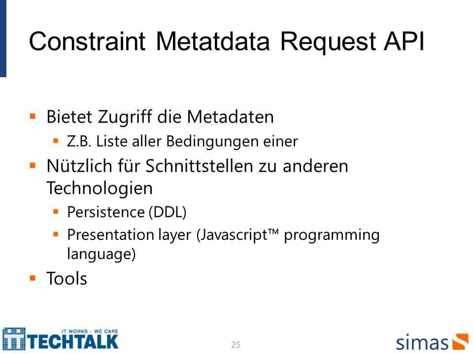 Constraint Metatdata Request API