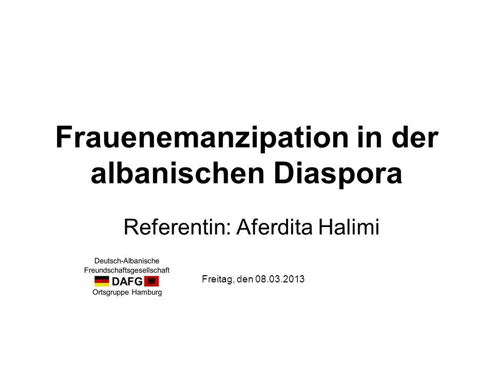 Frauenemanzipation in der albanischen Diaspora