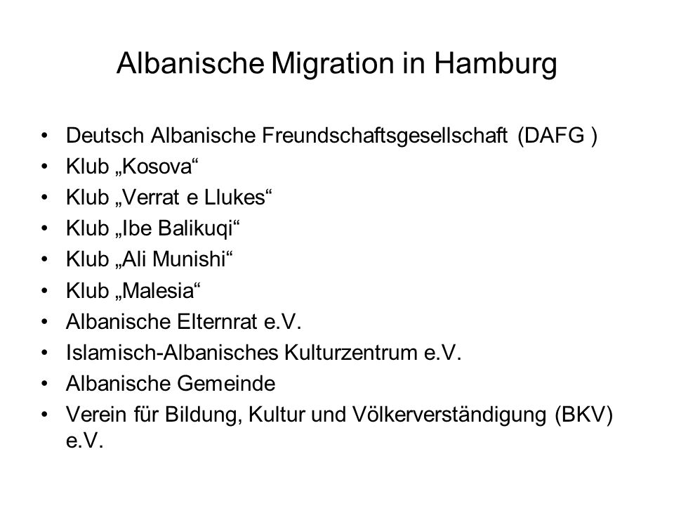 Albanische Migration in Hamburg