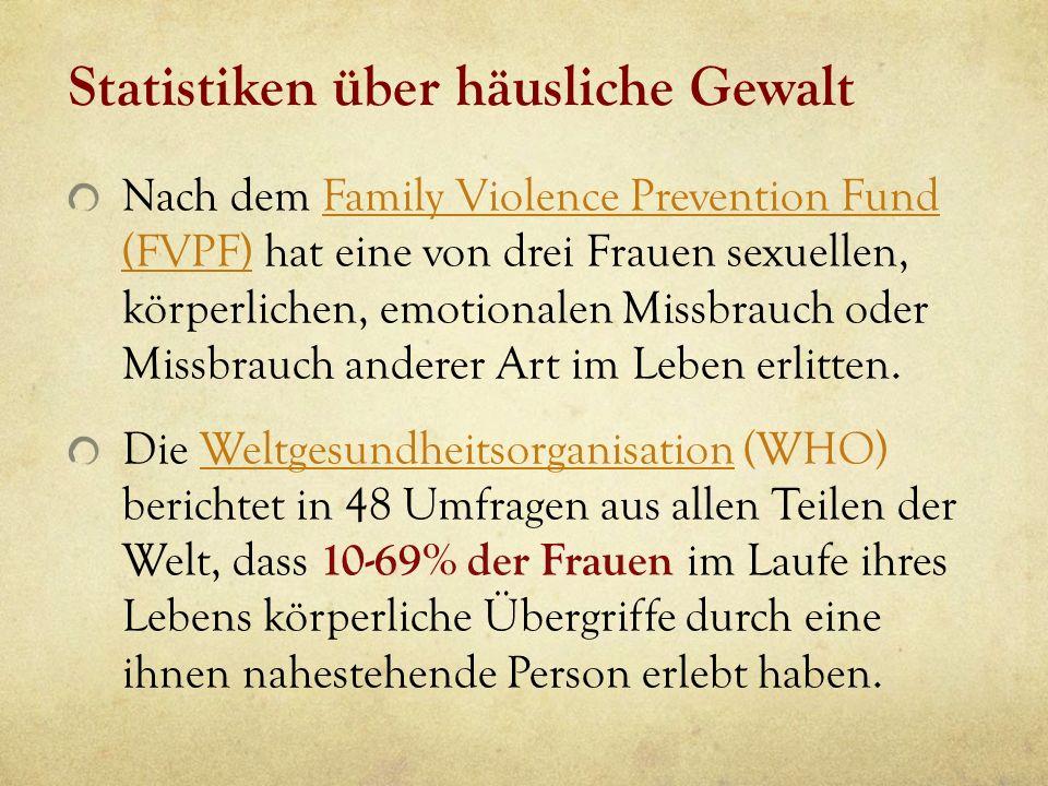 Statistiken über häusliche Gewalt