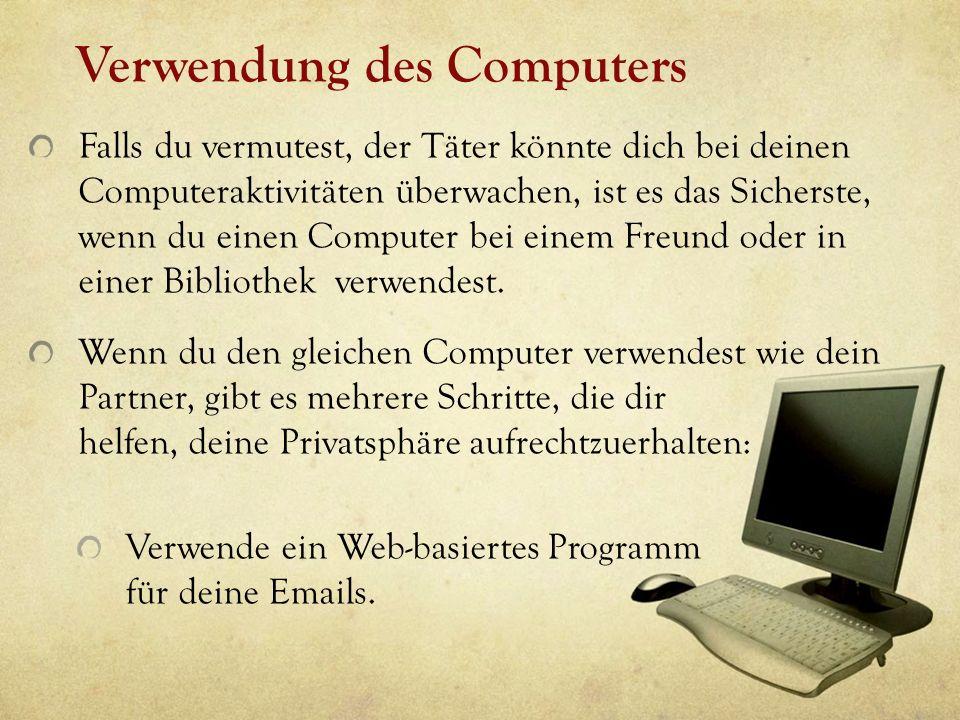 Verwendung des Computers