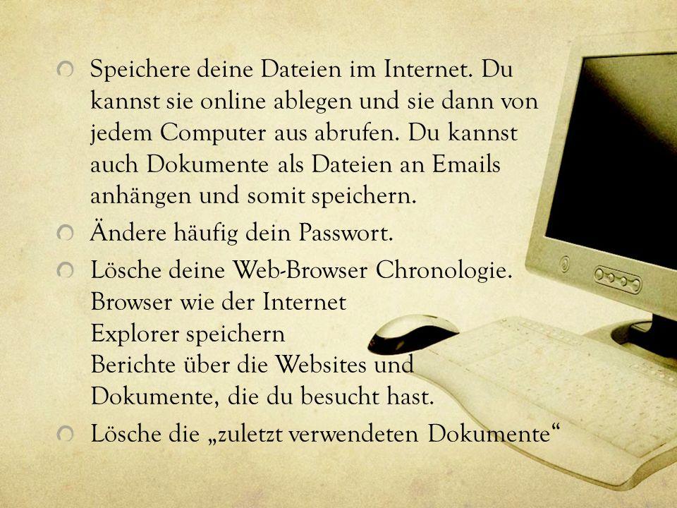 Speichere deine Dateien im Internet