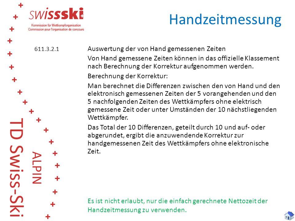 Handzeitmessung 611.3.2.1.