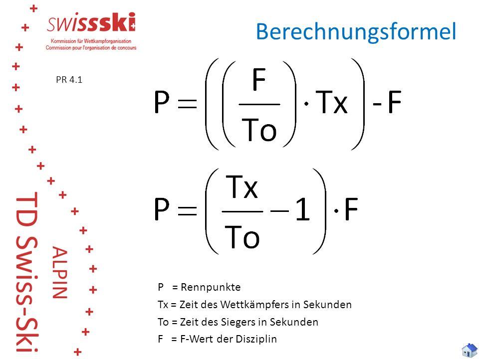 Berechnungsformel PR 4.1. Beide Formeln können verwendet werden.