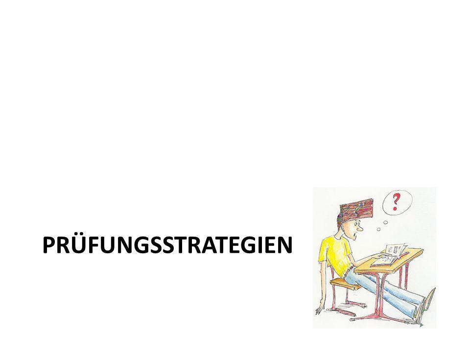 Prüfungsstrategien