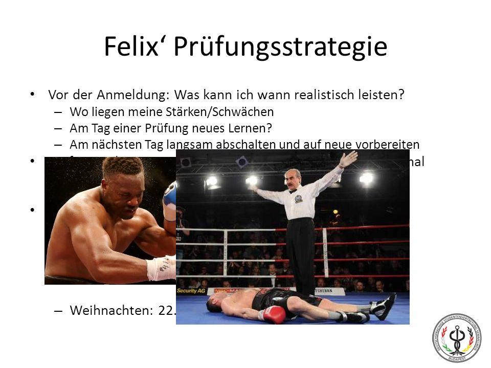 Felix' Prüfungsstrategie