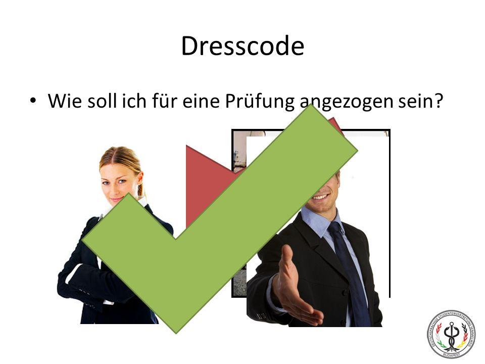 Dresscode Wie soll ich für eine Prüfung angezogen sein