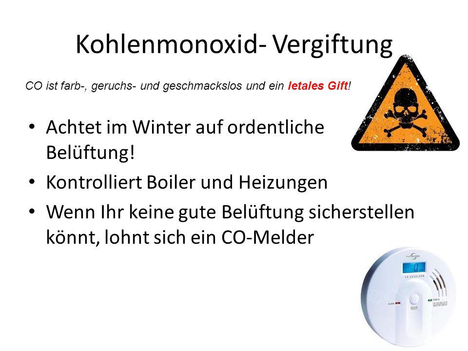 Kohlenmonoxid- Vergiftung