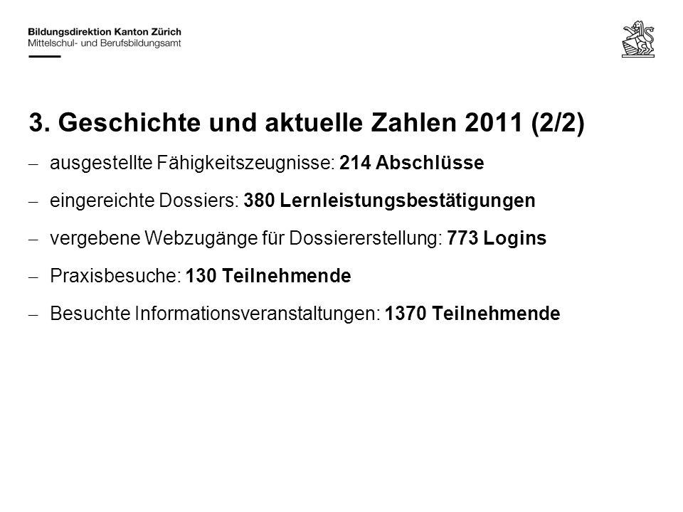 3. Geschichte und aktuelle Zahlen 2011 (2/2)