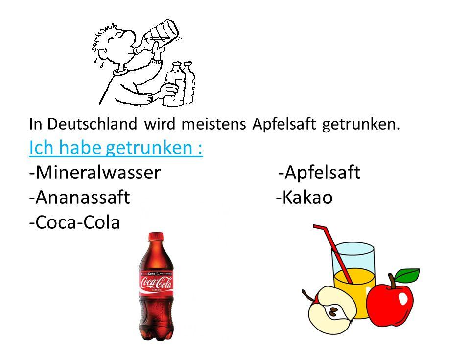 In Deutschland wird meistens Apfelsaft getrunken