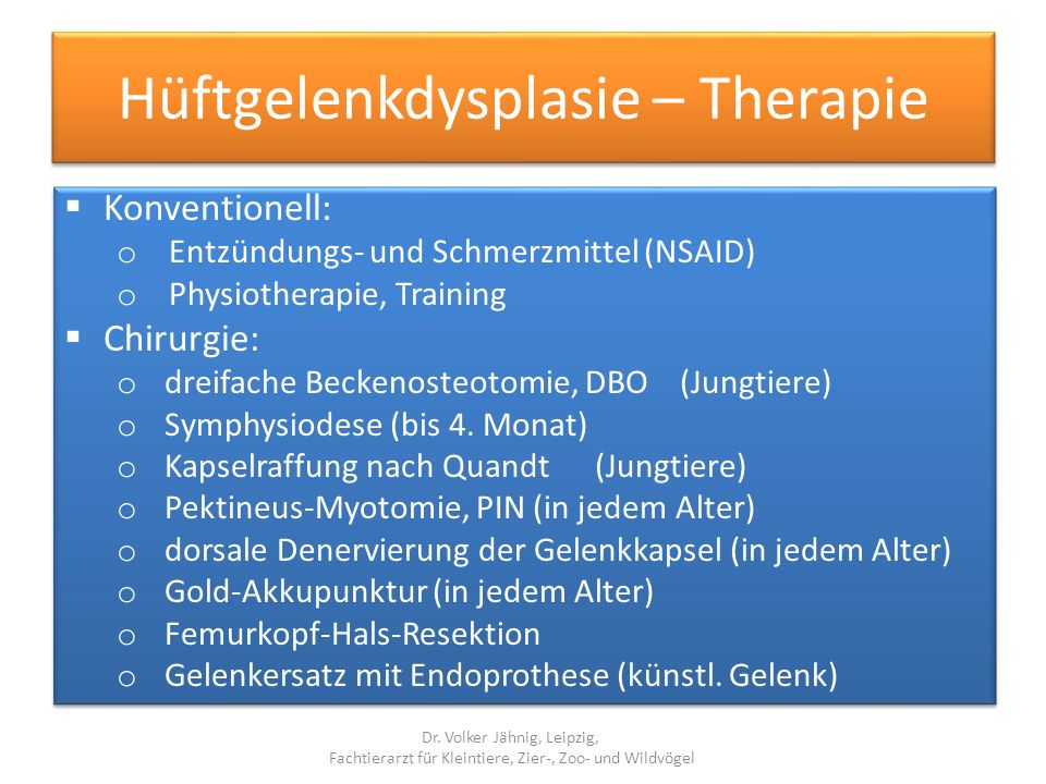 Hüftgelenkdysplasie – Therapie