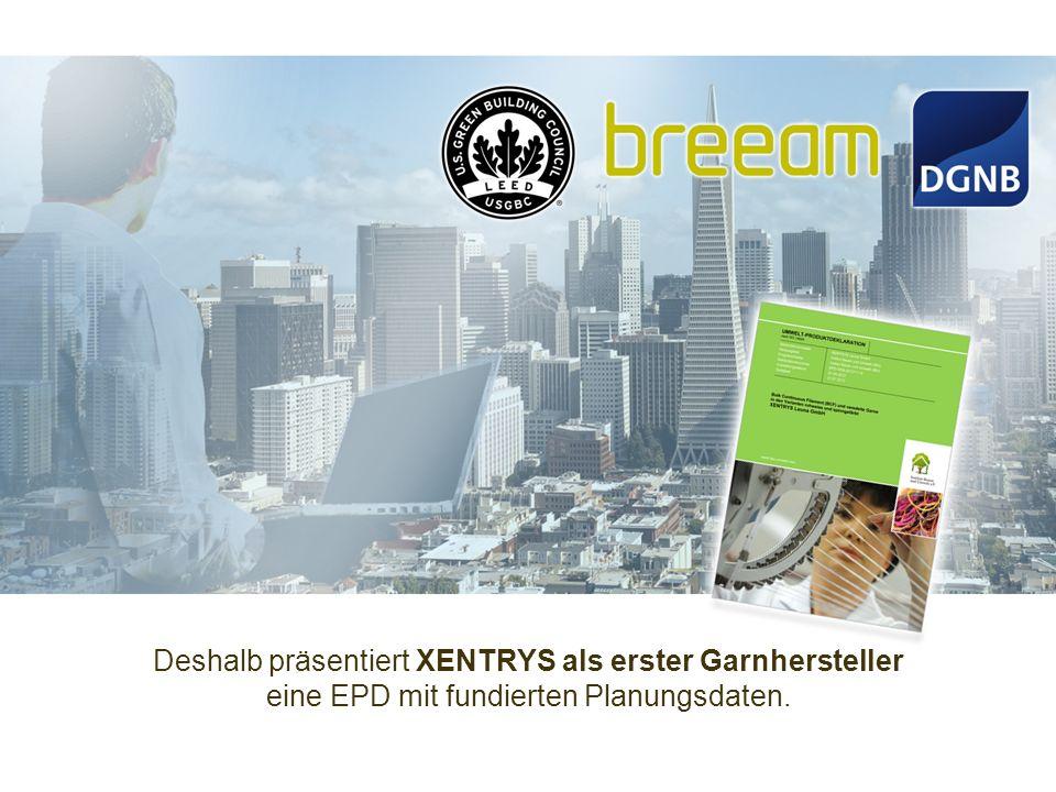 Deshalb präsentiert XENTRYS als erster Garnhersteller eine EPD mit fundierten Planungsdaten.
