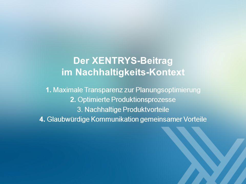 Der XENTRYS-Beitrag im Nachhaltigkeits-Kontext