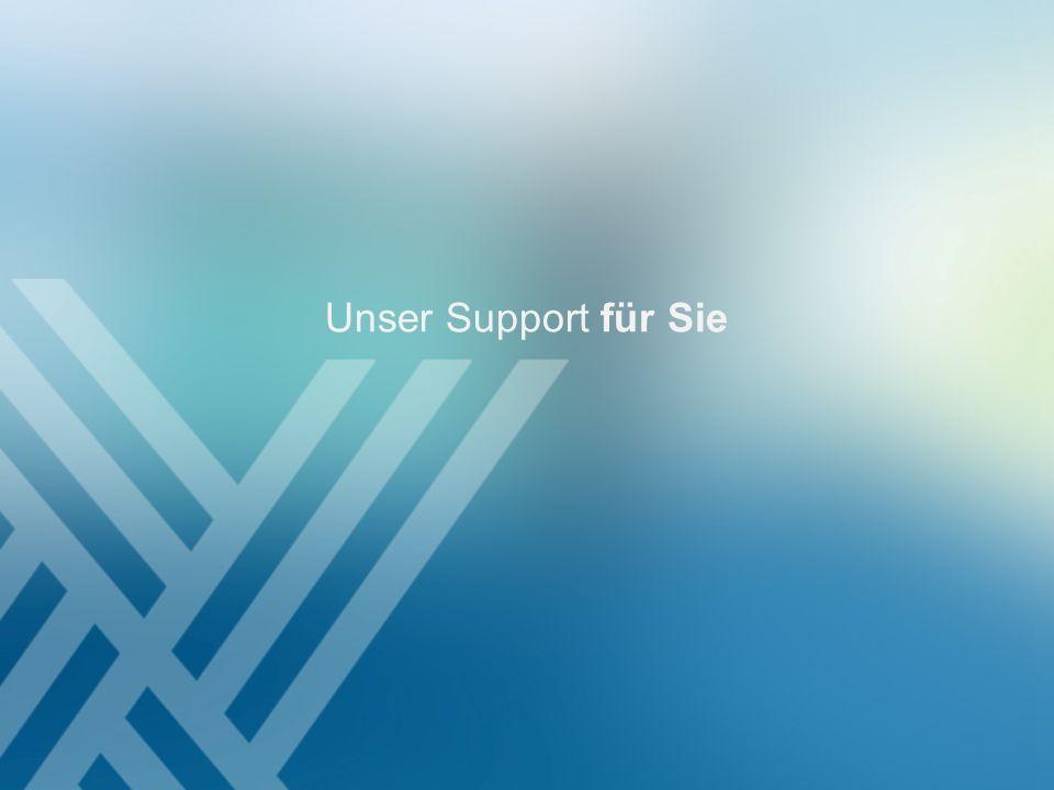 Unser Support für Sie