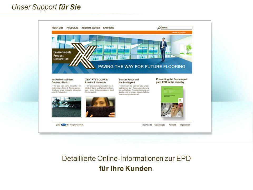 Detaillierte Online-Informationen zur EPD für Ihre Kunden.