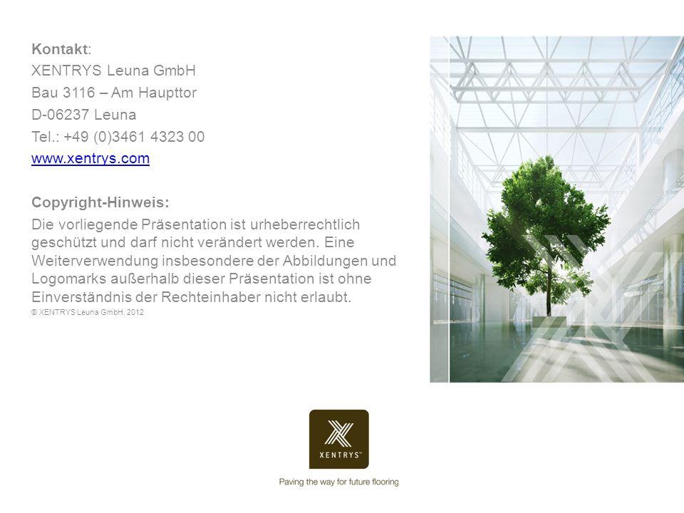 Kontakt: XENTRYS Leuna GmbH Bau 3116 – Am Haupttor D-06237 Leuna
