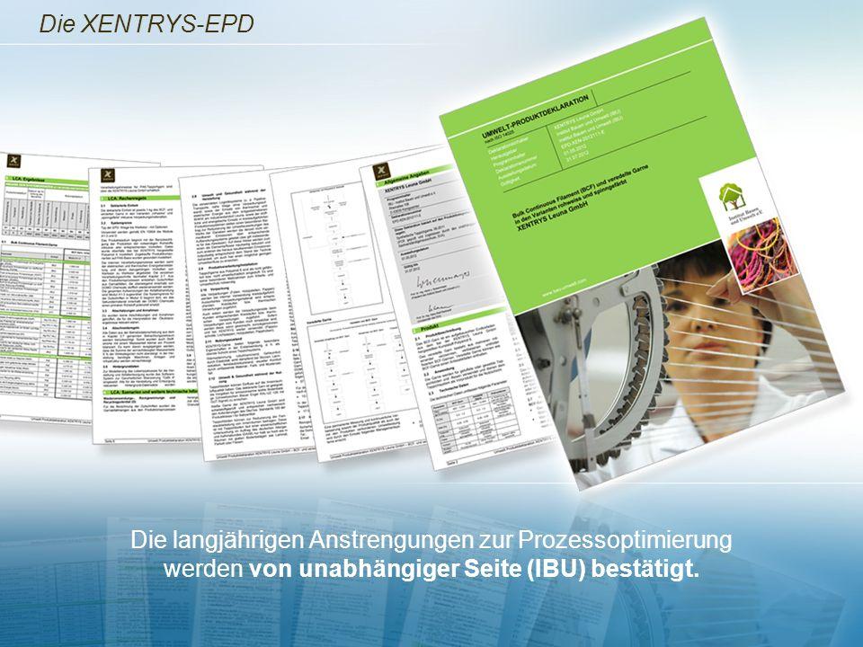 Die XENTRYS-EPD Die langjährigen Anstrengungen zur Prozessoptimierung werden von unabhängiger Seite (IBU) bestätigt.