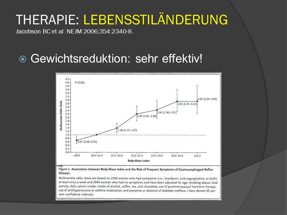 THERAPIE: LEBENSSTILÄNDERUNG Jacobson BC et al: NEJM 2006;354:2340-8.