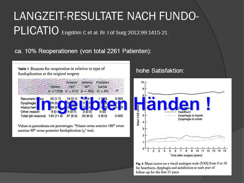 LANGZEIT-RESULTATE NACH FUNDO-PLICATIO Engstöm C et al