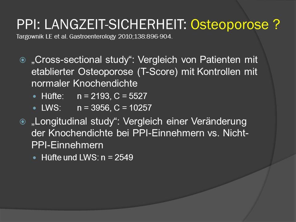 PPI: LANGZEIT-SICHERHEIT: Osteoporose. Targownik LE et al