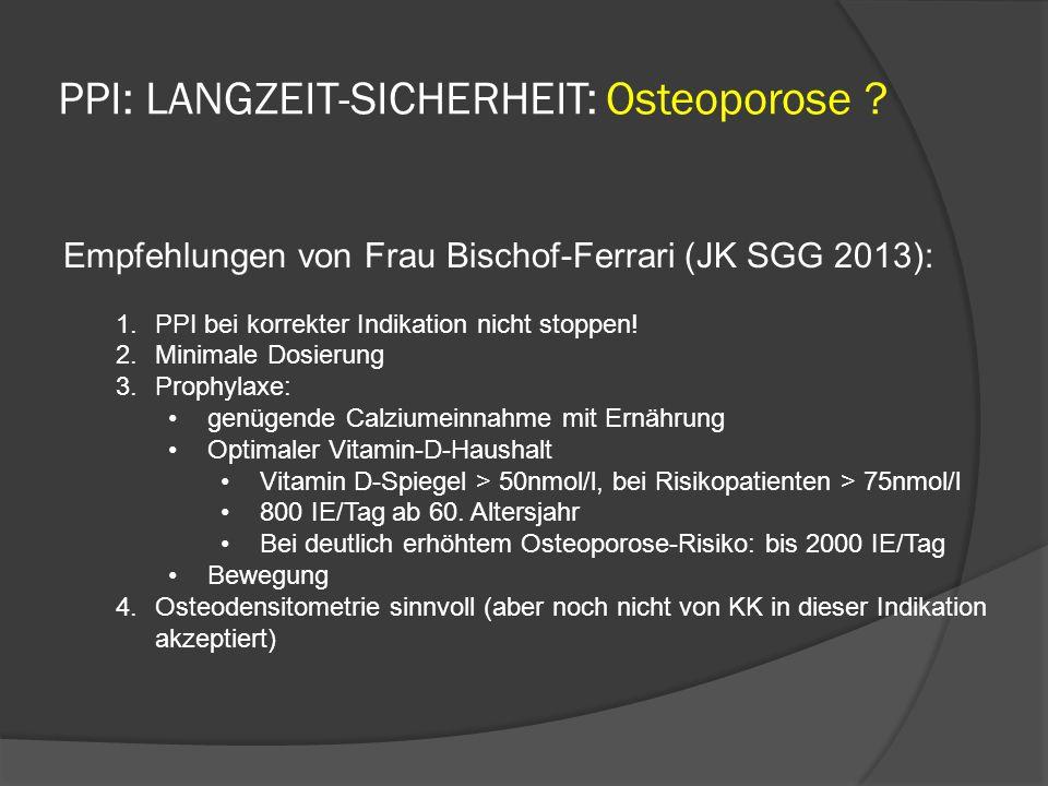PPI: LANGZEIT-SICHERHEIT: Osteoporose