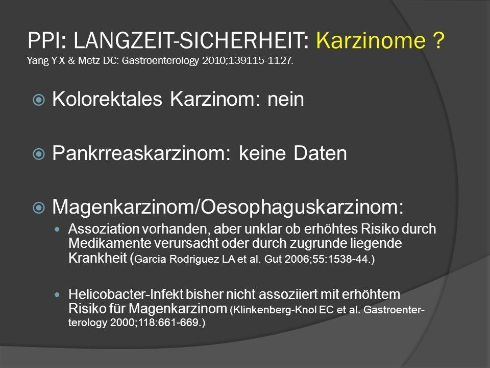 PPI: LANGZEIT-SICHERHEIT: Karzinome
