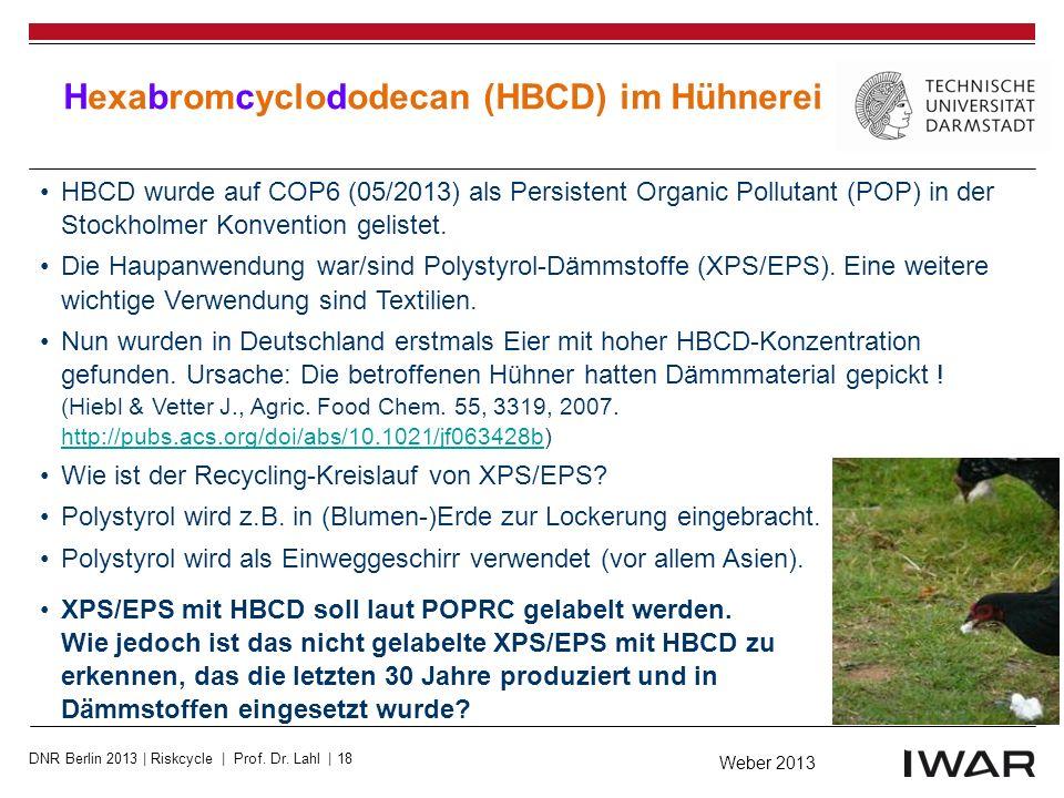 Hexabromcyclododecan (HBCD) im Hühnerei