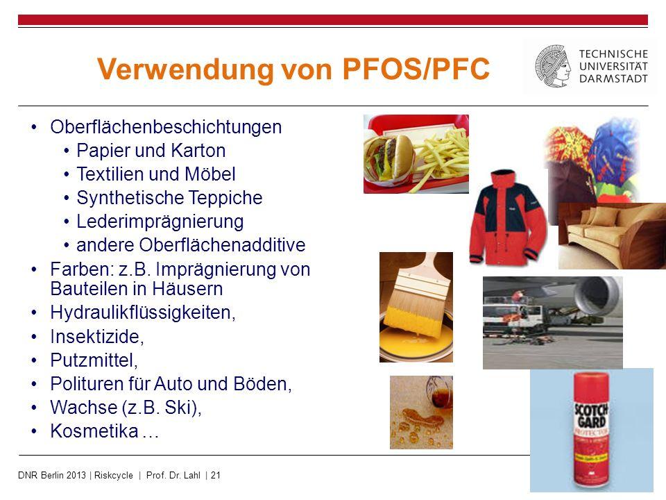Verwendung von PFOS/PFC