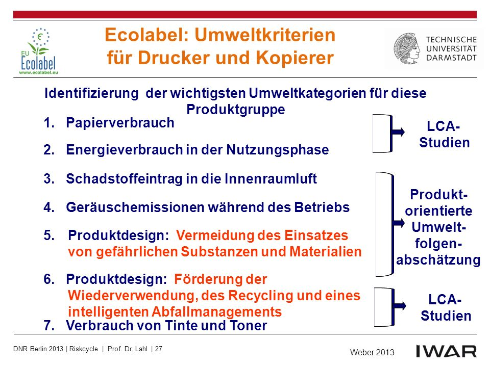 Ecolabel: Umweltkriterien für Drucker und Kopierer
