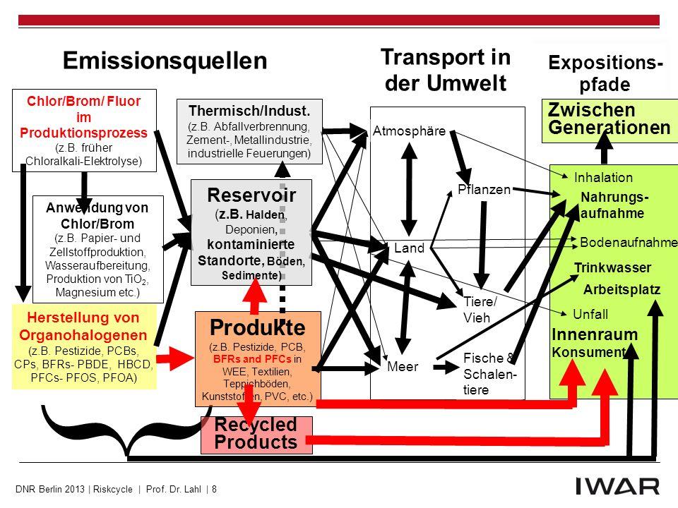  Emissionsquellen Transport in der Umwelt Produkte Expositions- pfade