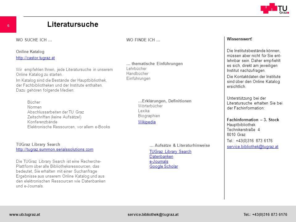 Literatursuche Wissenswert!