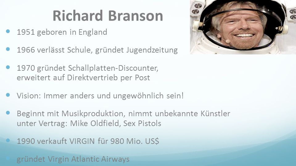 Richard Branson 1951 geboren in England
