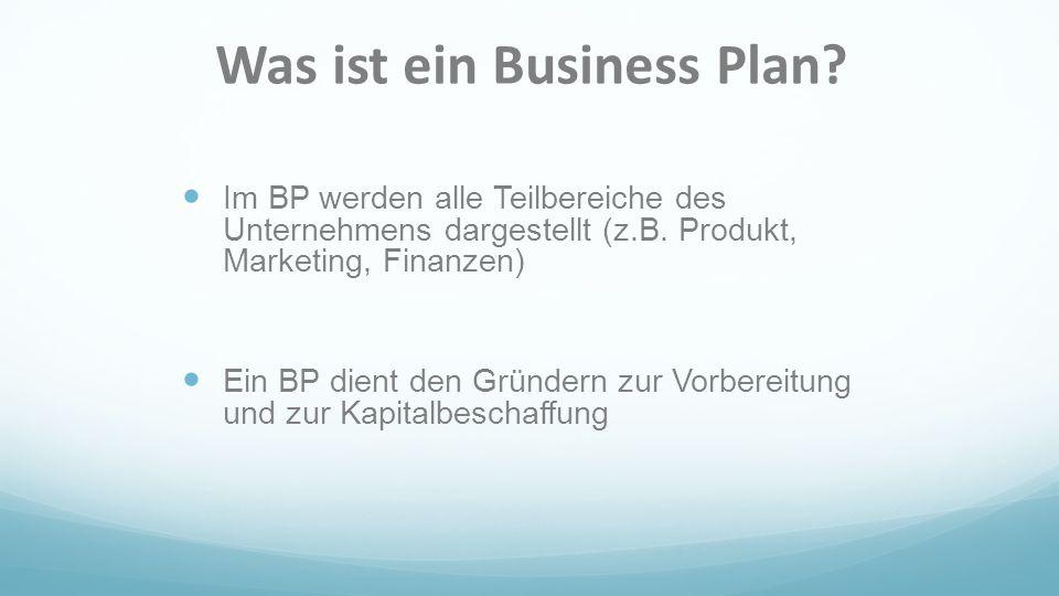 Was ist ein Business Plan