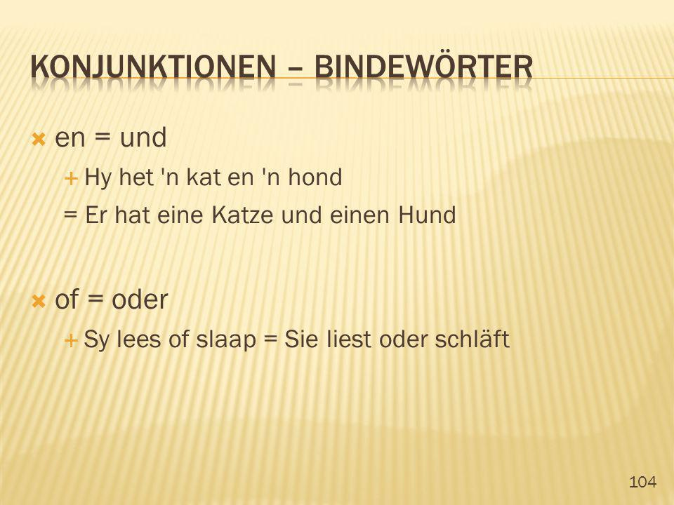 konjunktionen – Bindewörter